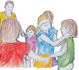 disegni di bambini che giocano