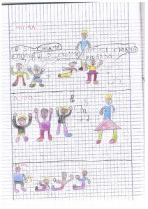 disegni di bambini che fanno biomusica