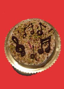 torta con note musicali
