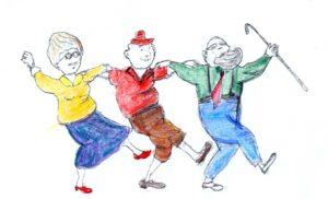 disegno di vecchi che ballano