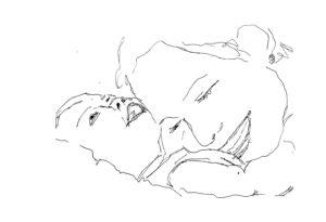 disegno di mamma con bebe
